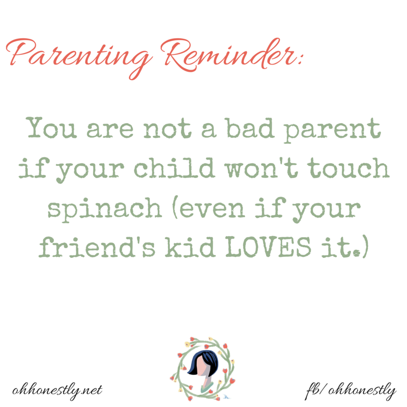 Reminder for parents- You're not a failure if your kid doesn't love vegetables!