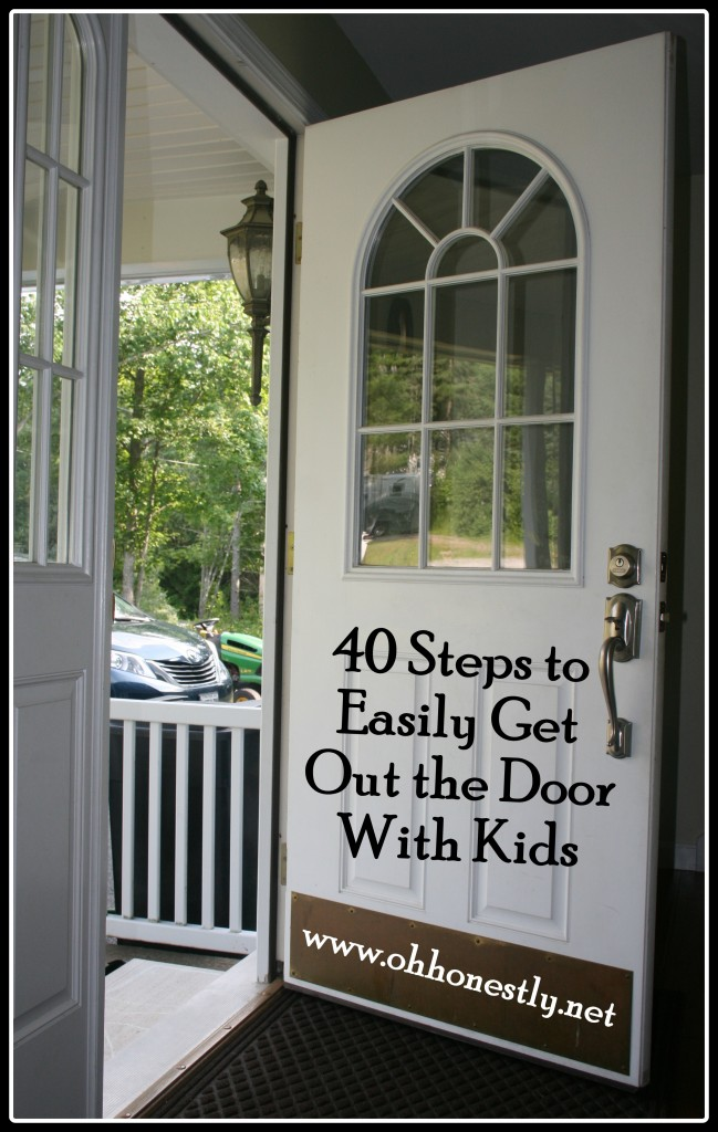 40 steps to easily get out the door with kids