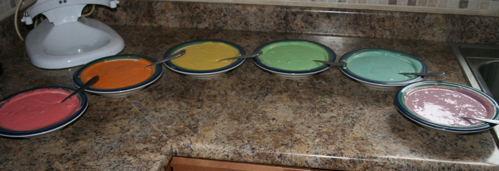 Cake mix colors