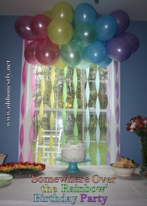 Somewhere Over the Rainbow Themed Birthday Party