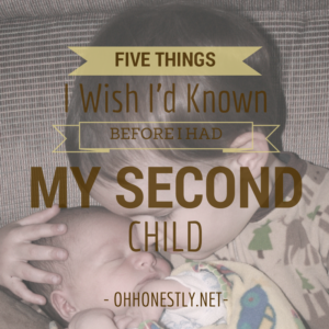 Five things I wish I'd known before I had my second child