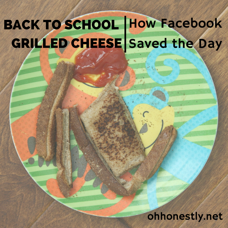Back to School Grilled Cheese: How Facebook Saved the Day