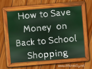 How to save money on back to school shopping