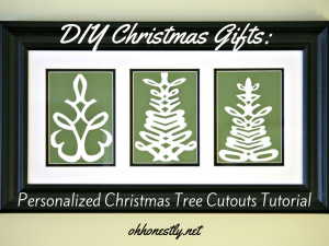 DIY Christmas Gifts: Personalized Christmas Tree Cutouts Tutorial