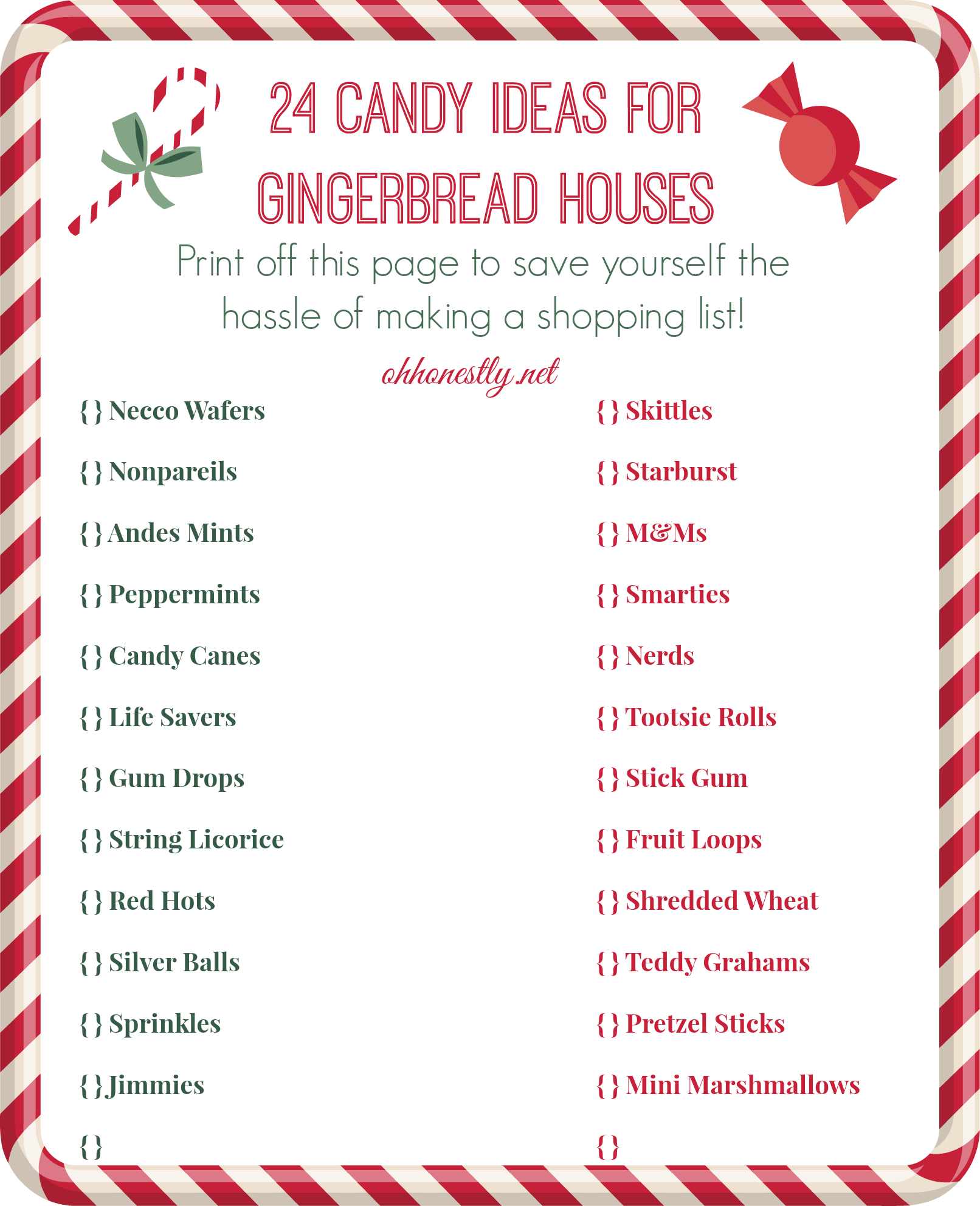How to decorate a gingerbread house candy ideas printable for How do you make a gingerbread house
