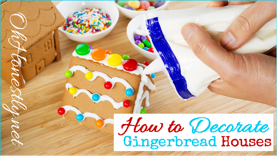how to decorate a gingerbread house  candy ideas printable