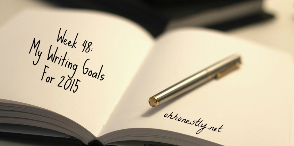 Keeping It Real Writing Goals 2015