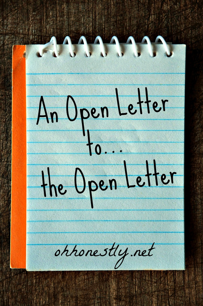 An Open Letter to the Open Letter