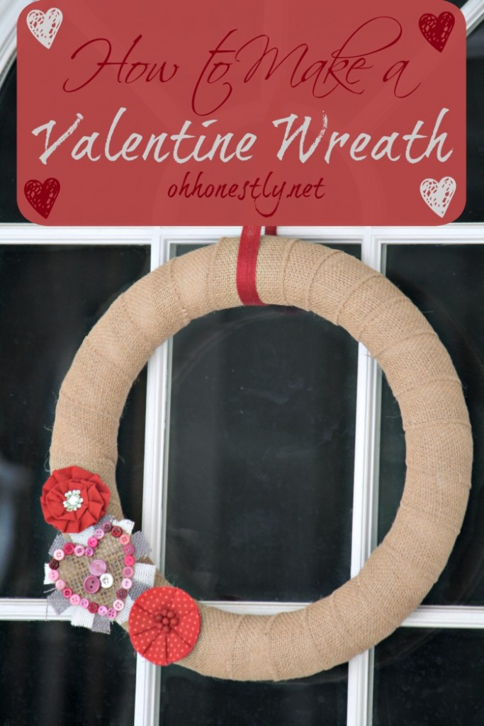 How to Make a DIY Valentine Wreath