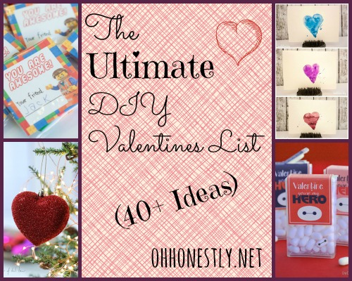 The Ultimate DIY Valentines List (40+ ideas)