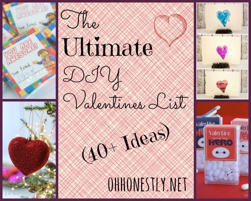 The Ultimate DIY Valentines List (40+ Ideas)