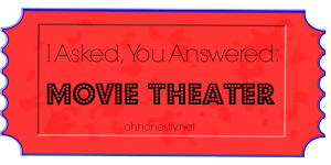 I Asked, You Answered: Movie Theater