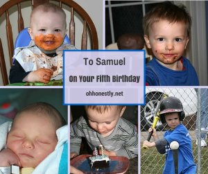 To Samuel, On Your Fifth Birthday