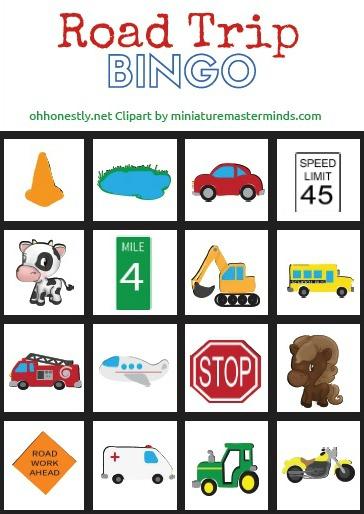 Road Trip Bingo