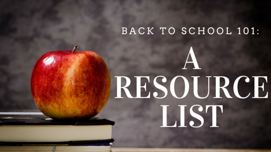 back to school resource list