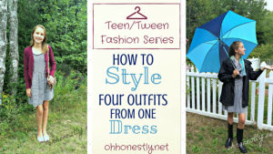 Teen Fashion Series: How to Style Four Outfits From One Dress