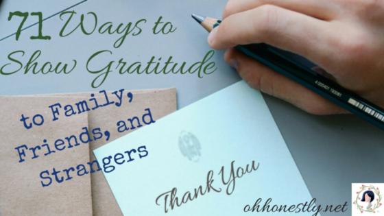 Ways to Show Gratitude