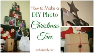 How to Make a DIY Photo Christmas Tree