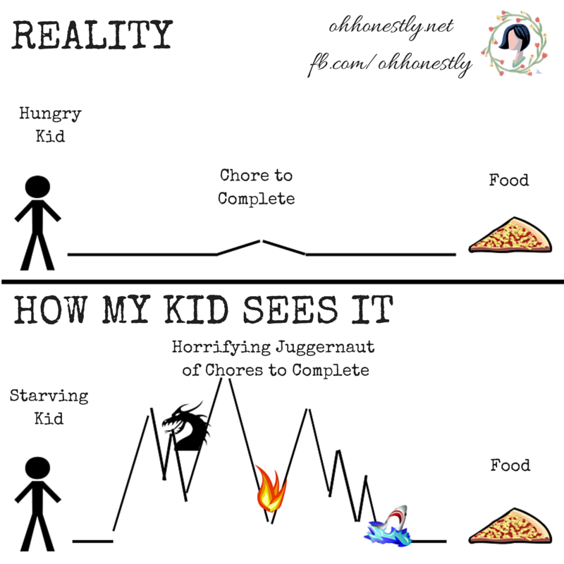 Meme Monday: Chores- Perception vs Reality