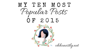 My Ten Most Popular Posts of 2015