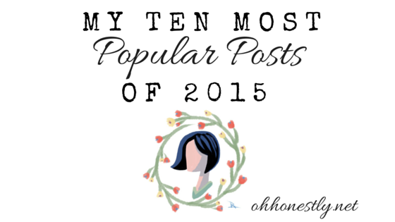 My Ten Most Popular Posts of 2015