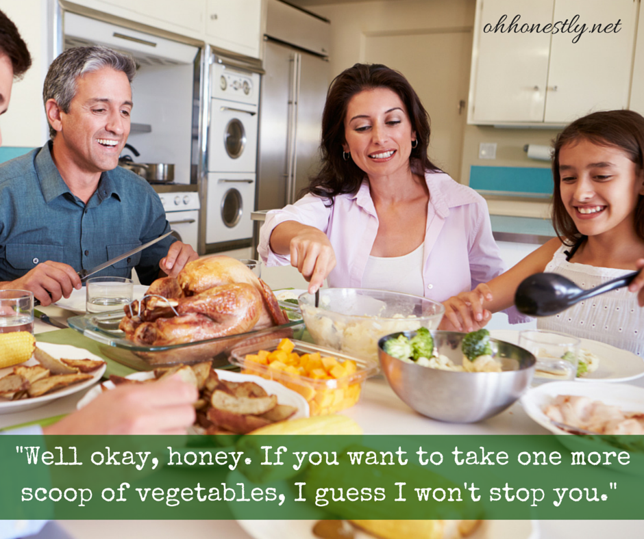 Ridiculous Stock Photos of Family Meal Time with Funny Captions