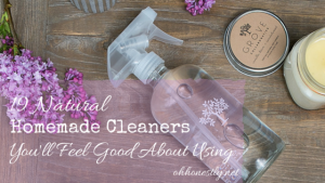 These homemade cleaning products are ones that you'll feel good about using and they're easy to make.