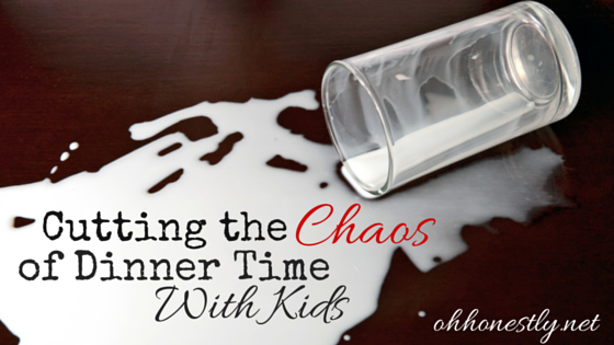Dinner time with kids can be chaotic. Spilled drinks, complaining, no one in their seat. But it doesn't have to be a total wash. Here's how one family makes it less chaotic so that they can enjoy their time together. Includes a free Conversation Starters printable.