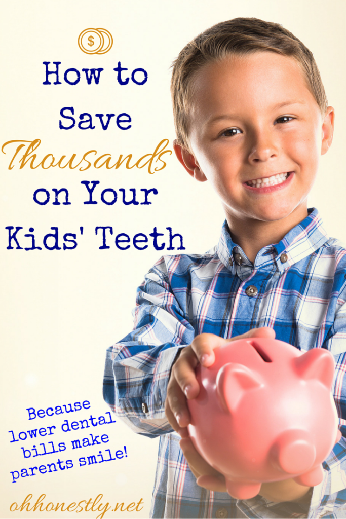 Here's how to save money on dental bills by keeping your kids' teeth healthy and strong.