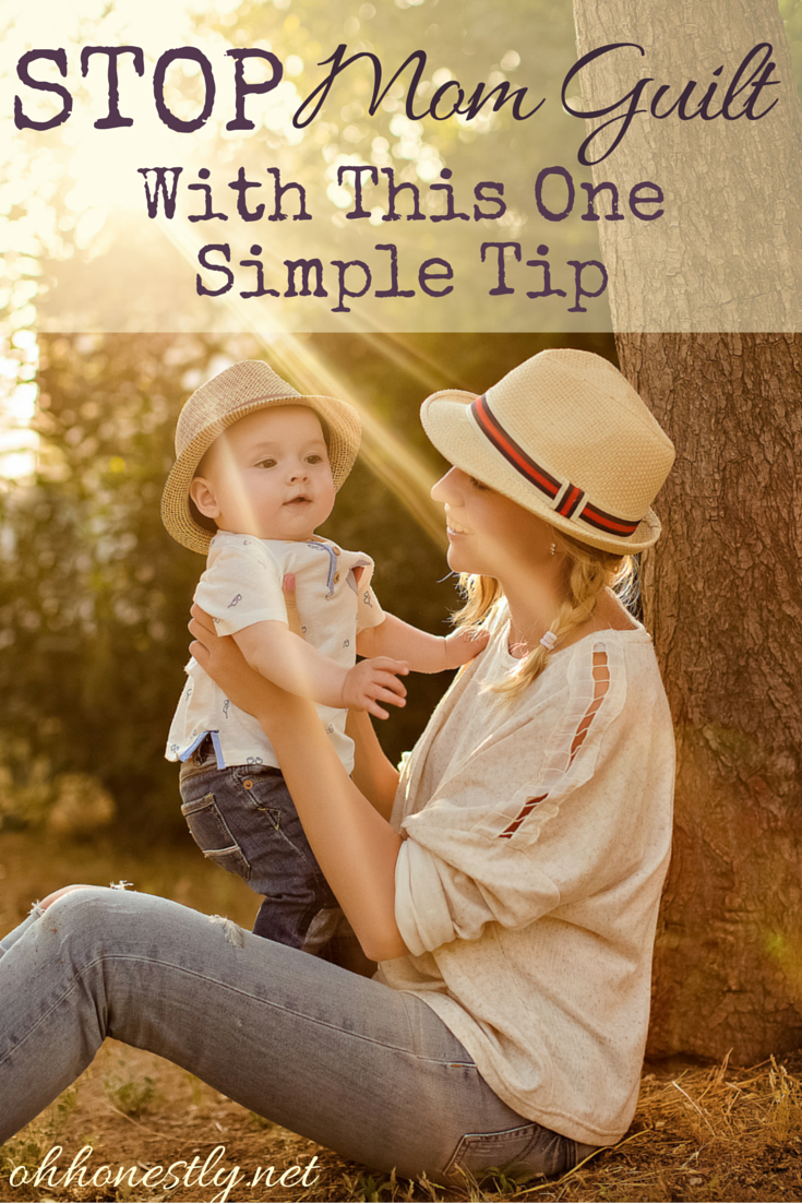Does mom guilt weigh you down and kill your joy? This simple tip will help you end your guilt and start enjoying your kids again.