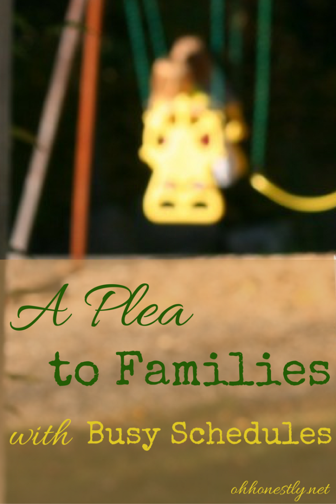 a-plea-to-families-with-busy-schedules