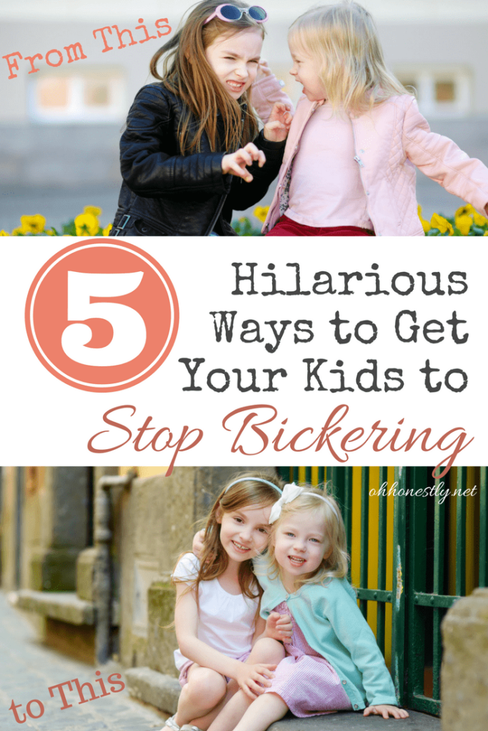 Is your kids' constant fighting about to send you over the edge? Try one of these hilarious ideas to get them to stop bickering and start getting along.