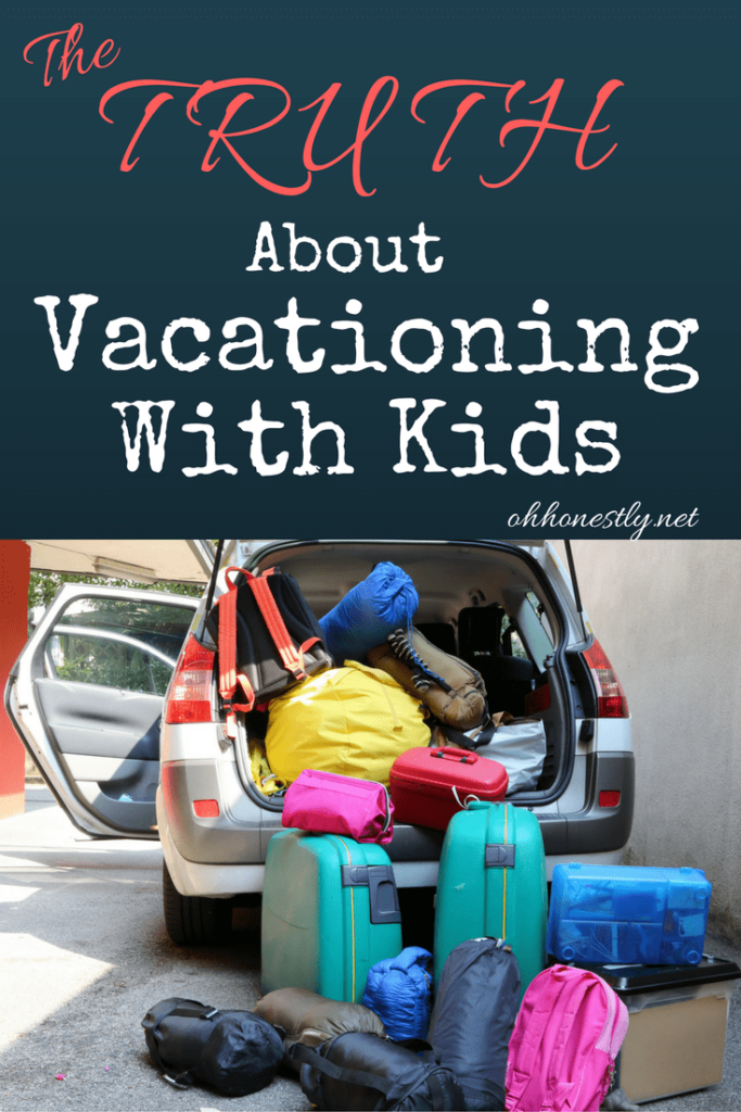 A mom of three dishes on the the real truth about vacationing with kids