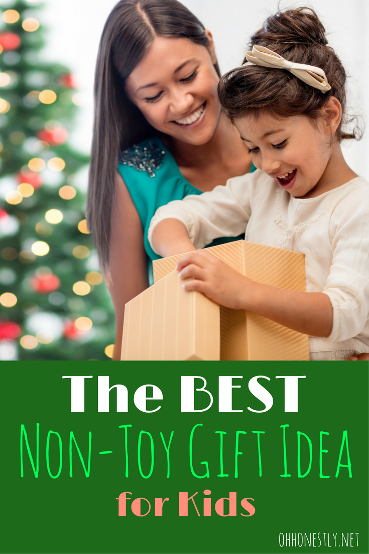 If you're drowning in toys and a holiday or birthday is coming up, you'll love this non-toy gift idea for kids. It's the BEST one out there!