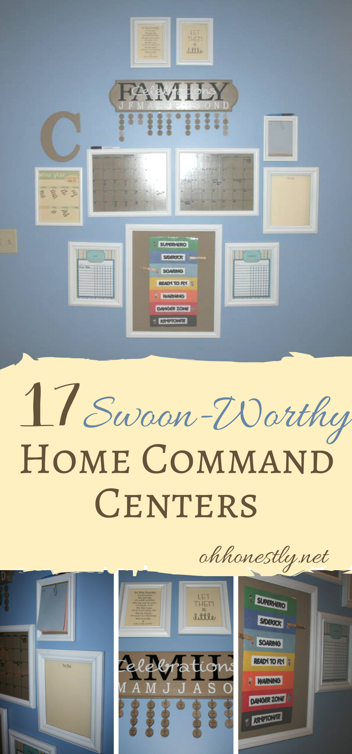 Home command centers will help you get and keep your family organized, but you have to put some thought into what you really need in your family command center before you set it up. These 17 swoon-worthy examples will give you tons of inspiration.