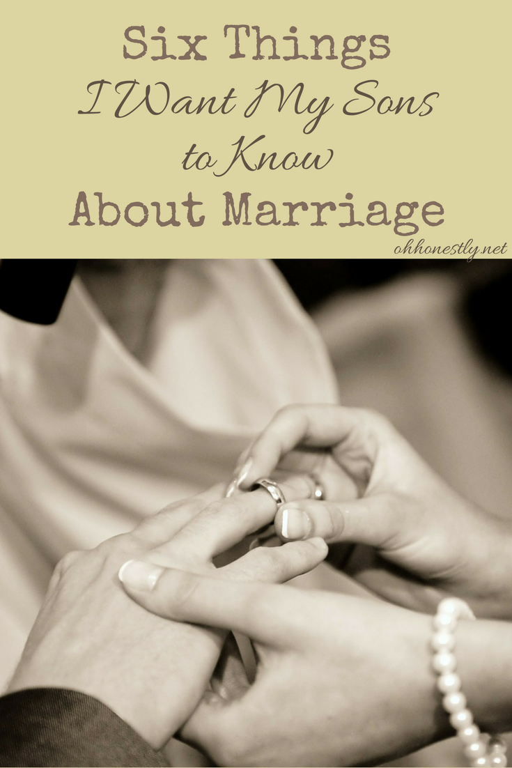 Being a husband is no joke. Here's what I want my sons to know about marriage before they get married.